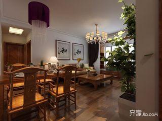 110平中式风格三居餐厅装修效果图