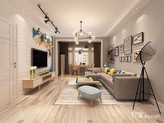 二居室现代北欧风格客厅装修效果图