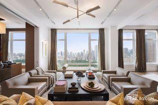 现代风格大户型客厅装修效果图