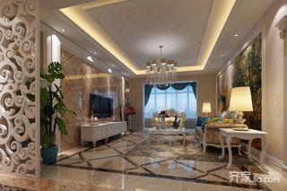 136平欧式风格三居装修效果图