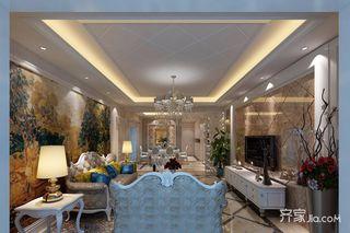 136平欧式风格三居客厅装修效果图