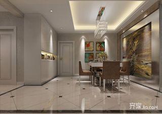 126平现代简约三居餐厅吊顶装修效果图