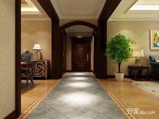 134平米欧式三居室装修过道设计图