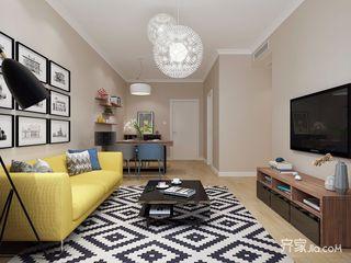 三居室北欧风格客厅装修效果图