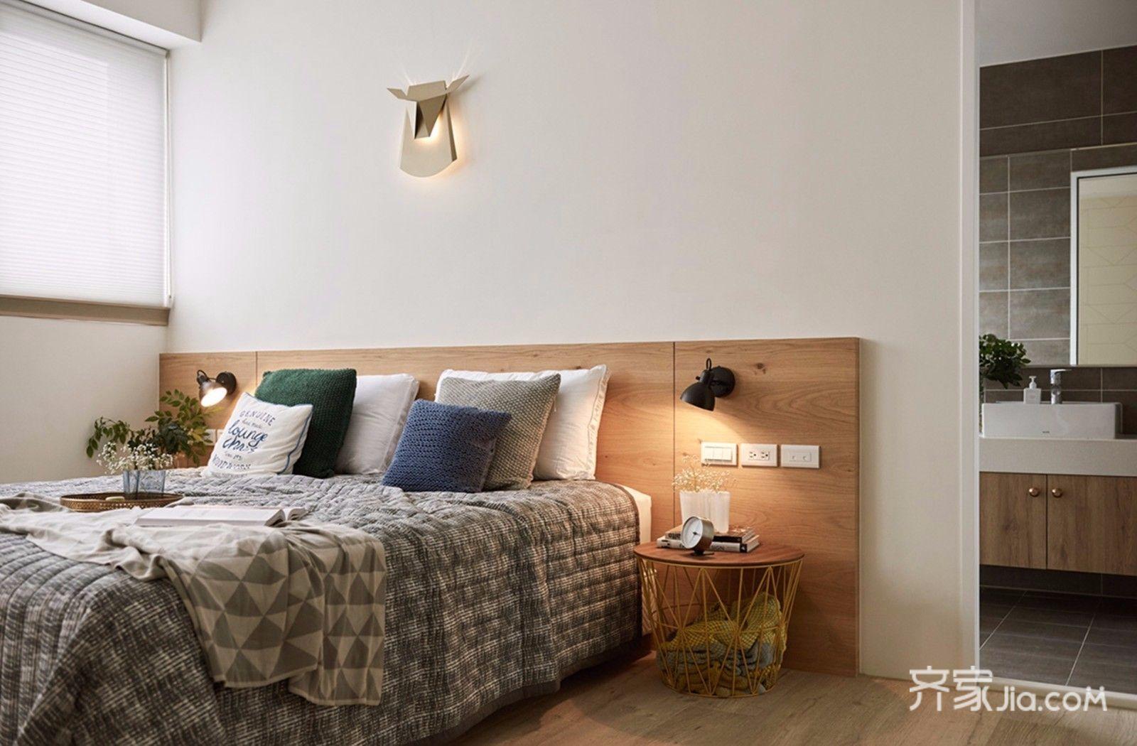 北欧风格二居室装修卧室设计图