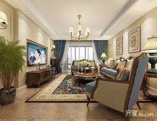 简约美式风格三居客厅装修效果图
