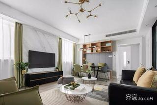 130㎡简约三居客厅装修设计效果图