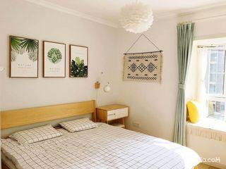 120平三居北欧风格卧室装修效果图