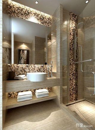 120㎡新中式三居卫生间装修效果图