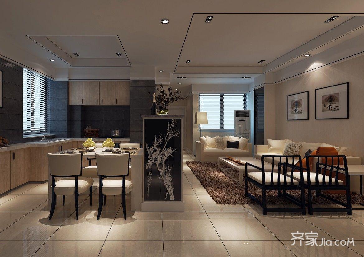 现代风格复式装修客厅效果图
