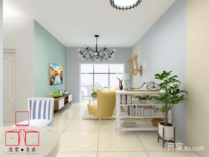 二居室宜家风格客厅装修效果图