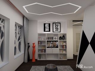小户型现代风格公寓装修效果图