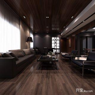 120㎡新古典风格三居客厅装修效果图