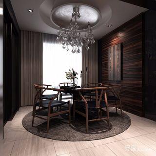 120㎡新古典风格三居餐厅装修效果图
