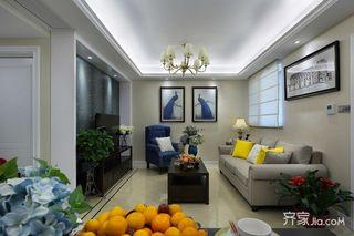 90平美式风格三居装修实景图