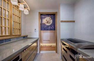110平米日式风格装修厨房布局图