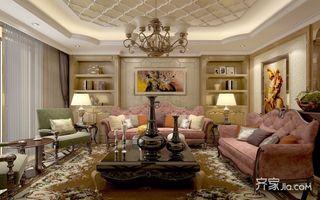 180平欧式风格客厅装修效果图