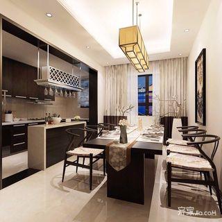 140平新中式风格餐厅装修效果图