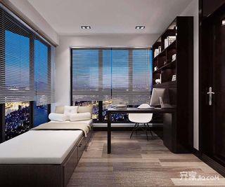 140平新中式风格书房装修效果图