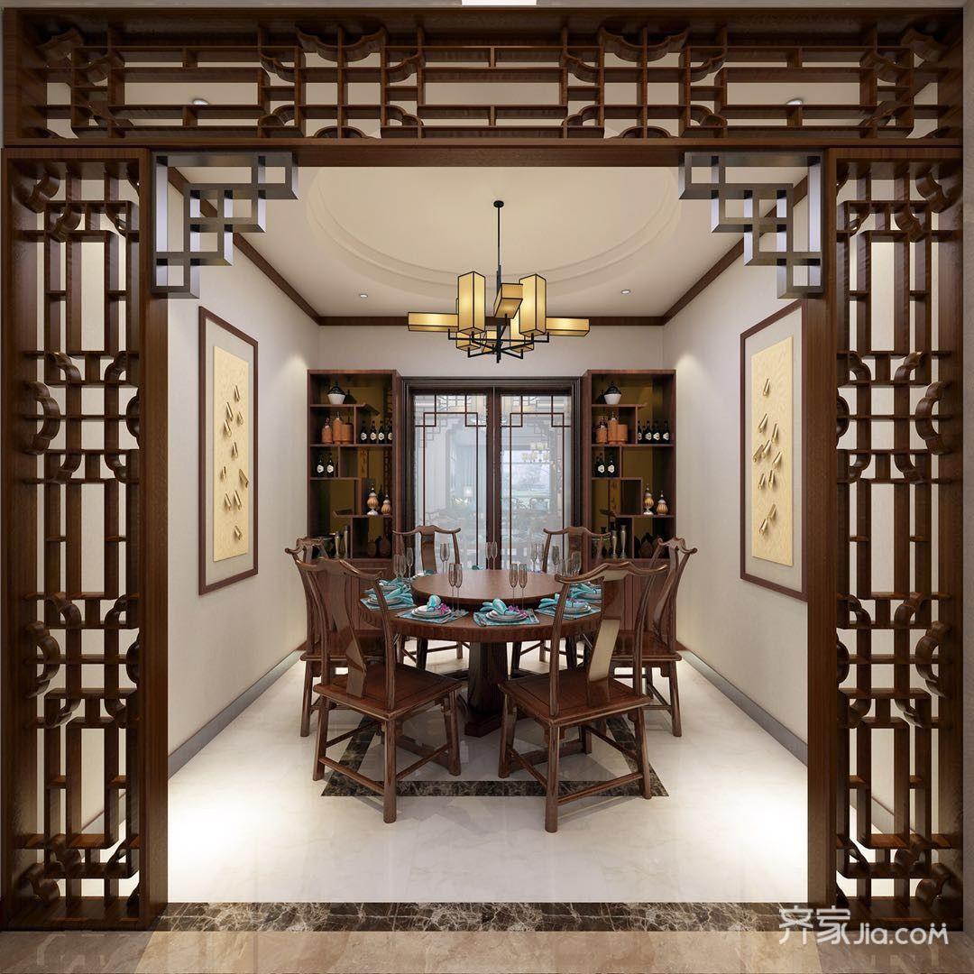 中式风格别墅餐厅装修设计效果图