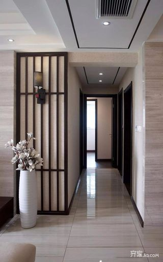 新中式风格三居装修过道设计图