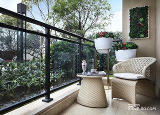 现代法式风格三居阳台装修效果图