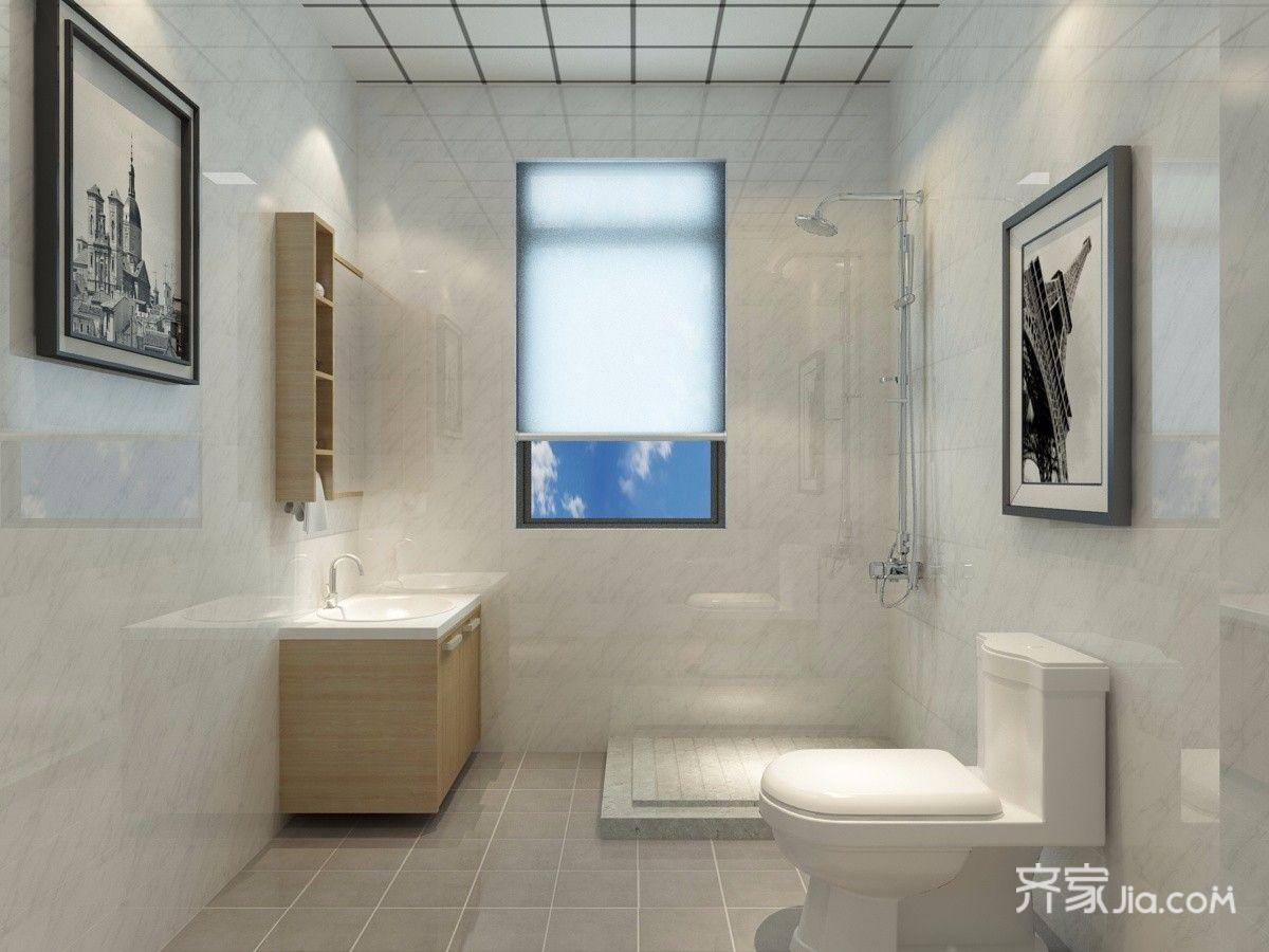 美式风格二居室卫生间装修效果图