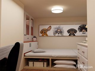 现代简约二居装修榻榻米设计图