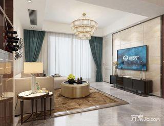138平米简约风格客厅装修效果图