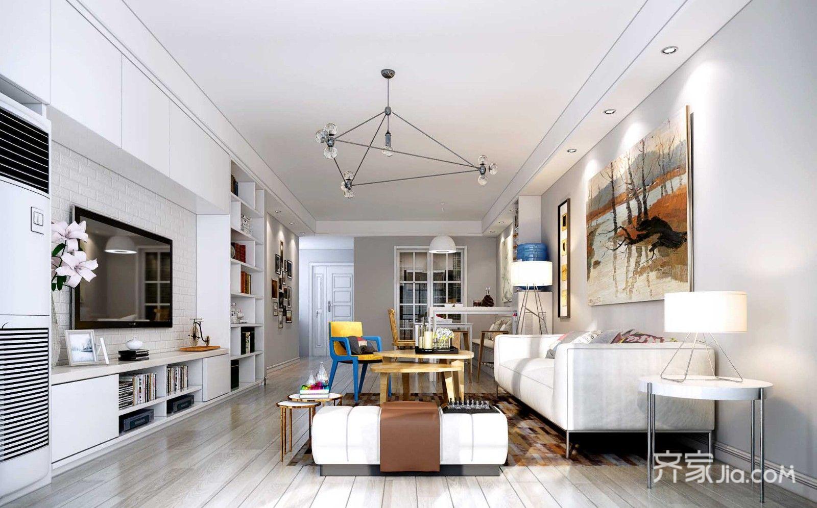 100平米现代风格客厅装修效果图