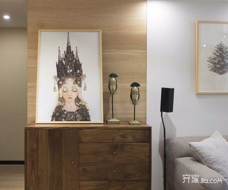 现代简约风格二居装修玄关柜设计图