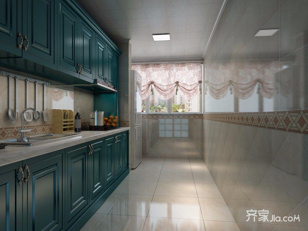 大户型美式厨房装修效果图