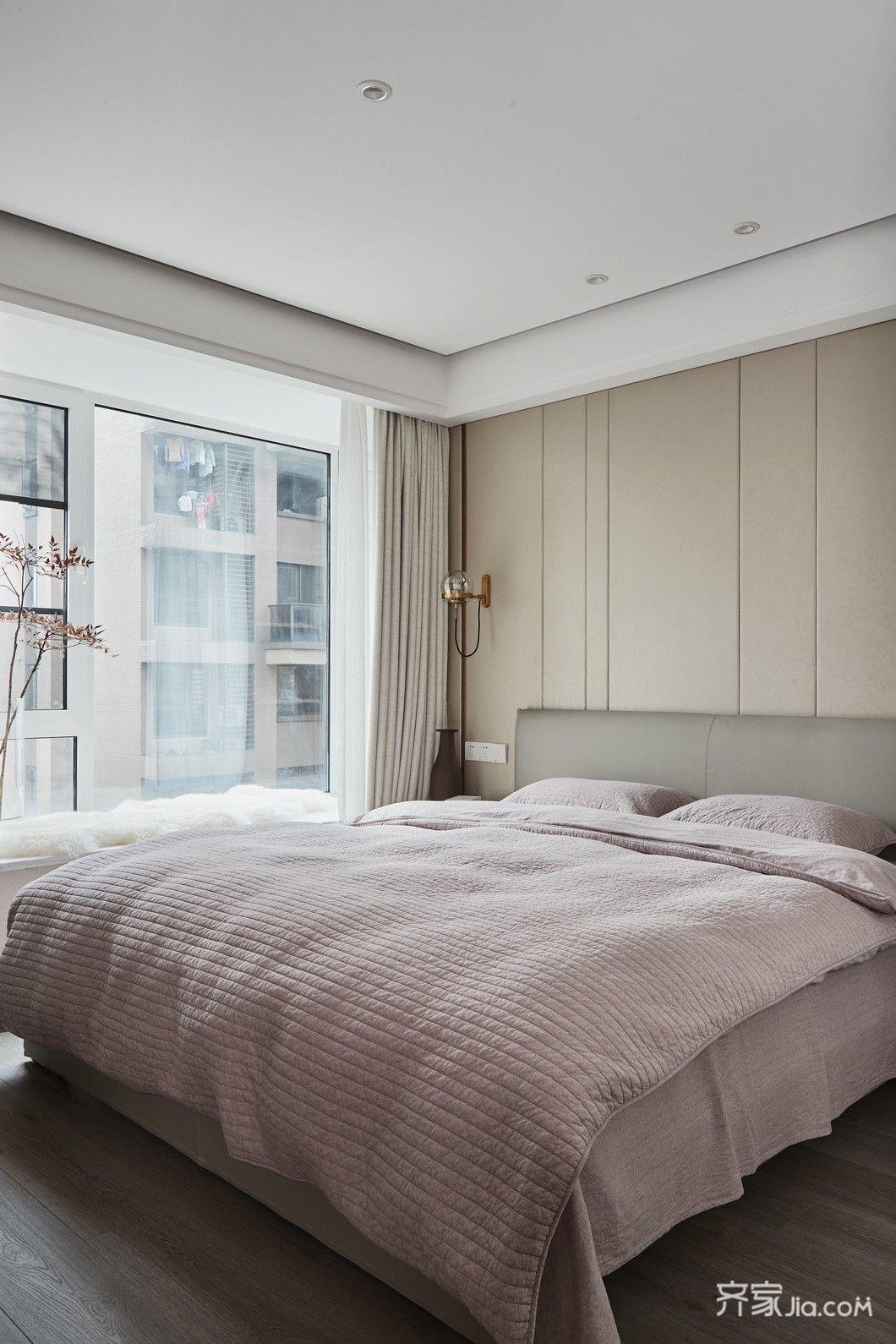 现代简约三居室装修卧室设计图