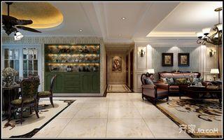 130平米美式风格装修客餐厅过道效果图