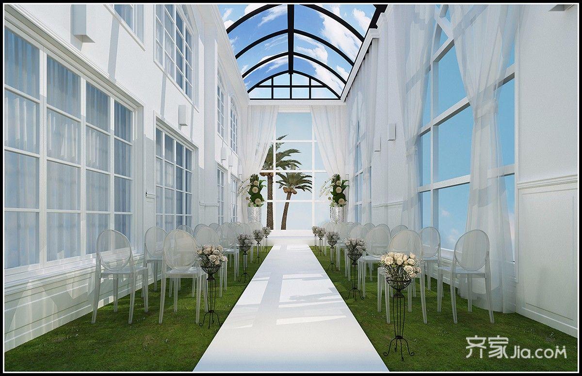 欧式风格婚礼堂阳光房装修效果图
