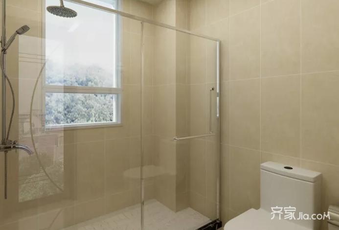 一居室新中式风格卫生间装修效果图