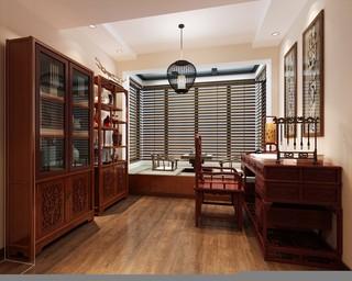 中式风格别墅书房装修效果图