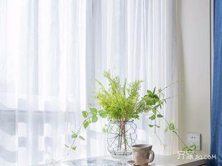 120平美式三居装修飘窗小景
