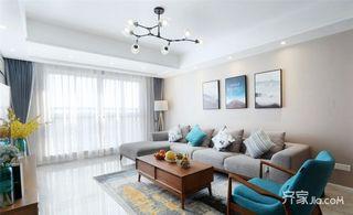 100平现代简约三居装修设计图