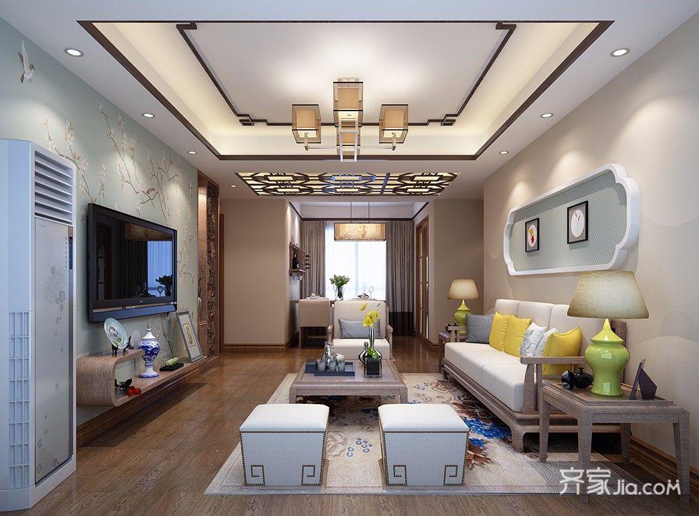新中式风格二居装修效果图