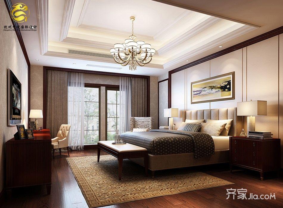 欧式风格豪华别墅卧室装修效果图