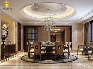 欧式风格豪华别墅餐厅装修效果图