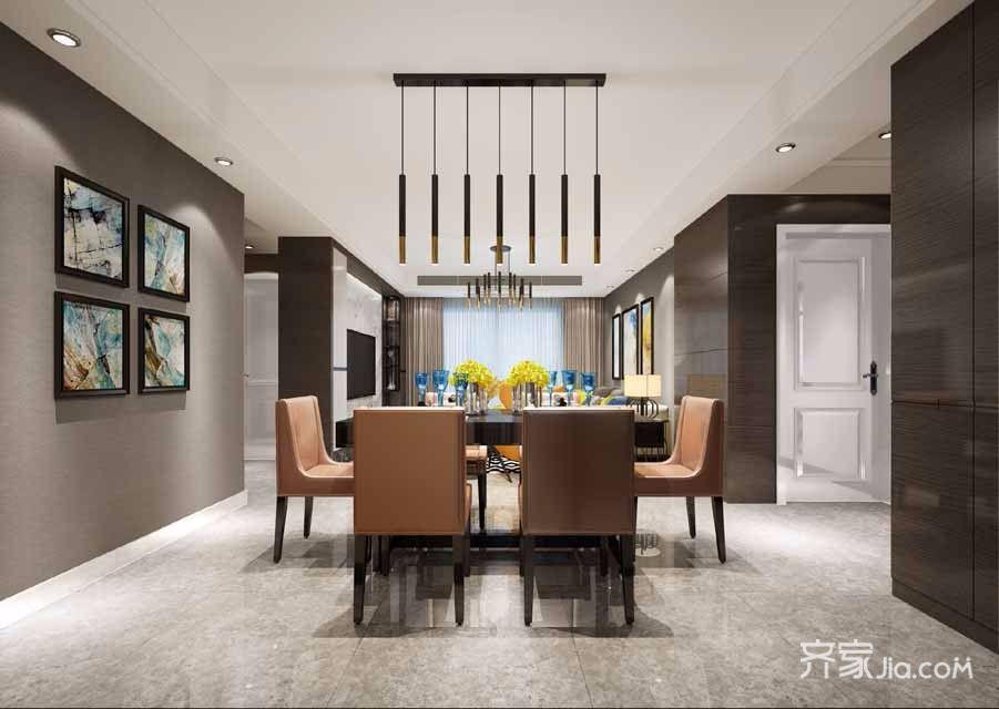 135平米现代风格餐厅装修效果图