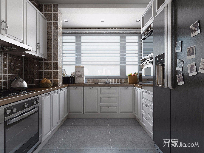 146平米美式风格厨房装修效果图