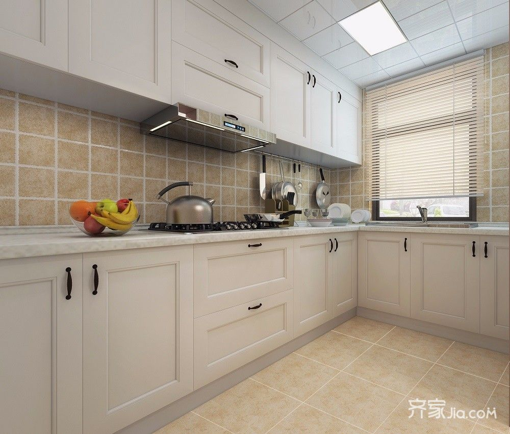 大户型美式风格厨房设计效果图