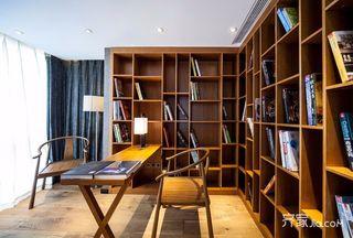 新中式风格别墅装修书房设计图