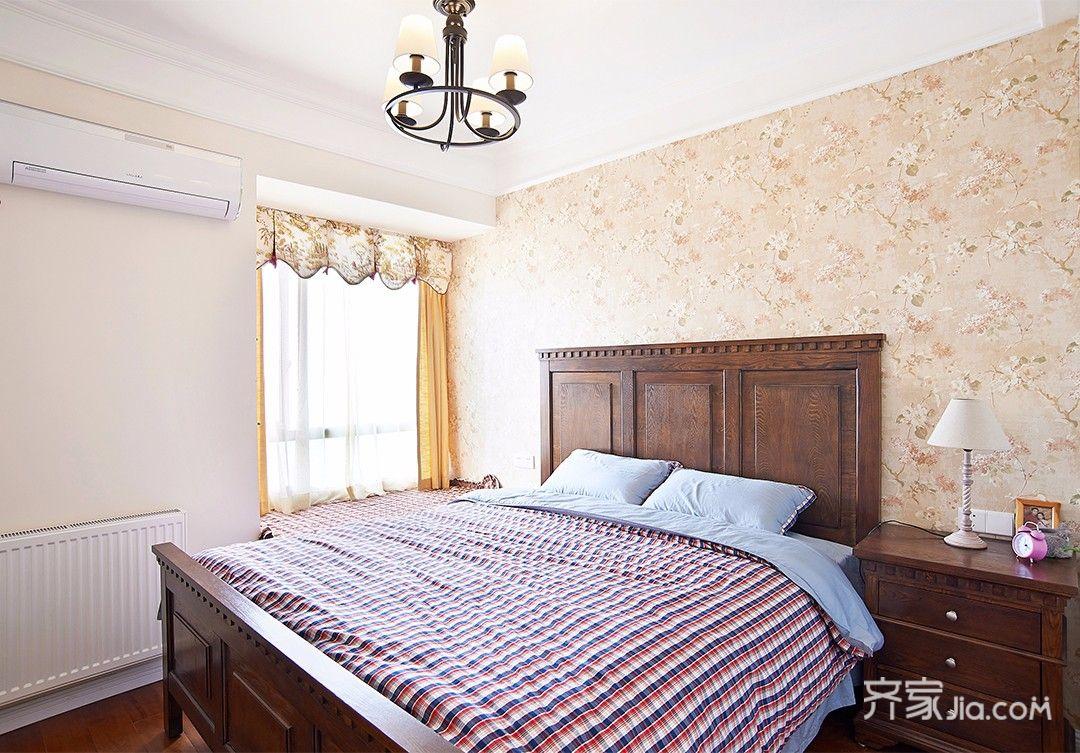 112平米美式三居装修卧室效果图