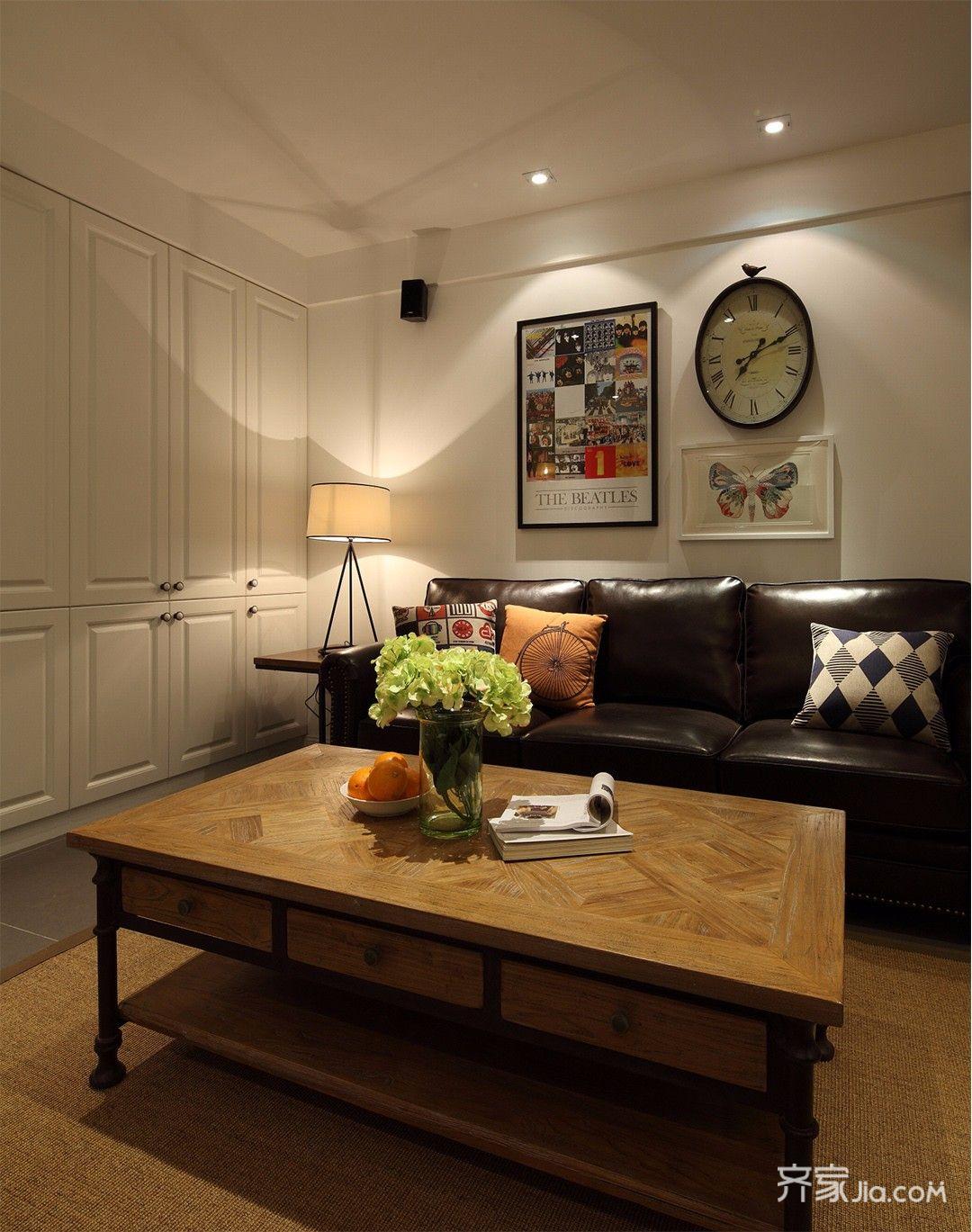 三居室美式混搭风格装修壁柜设计图