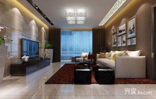 100平现代简约两居客厅装修效果图