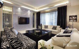 120平新古典三居客厅装修效果图